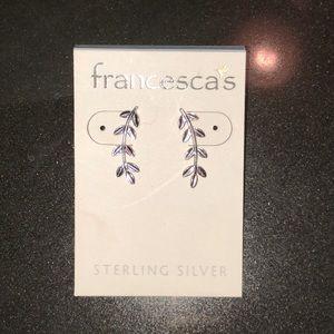 Brand new Francesca's sterling silver earrings